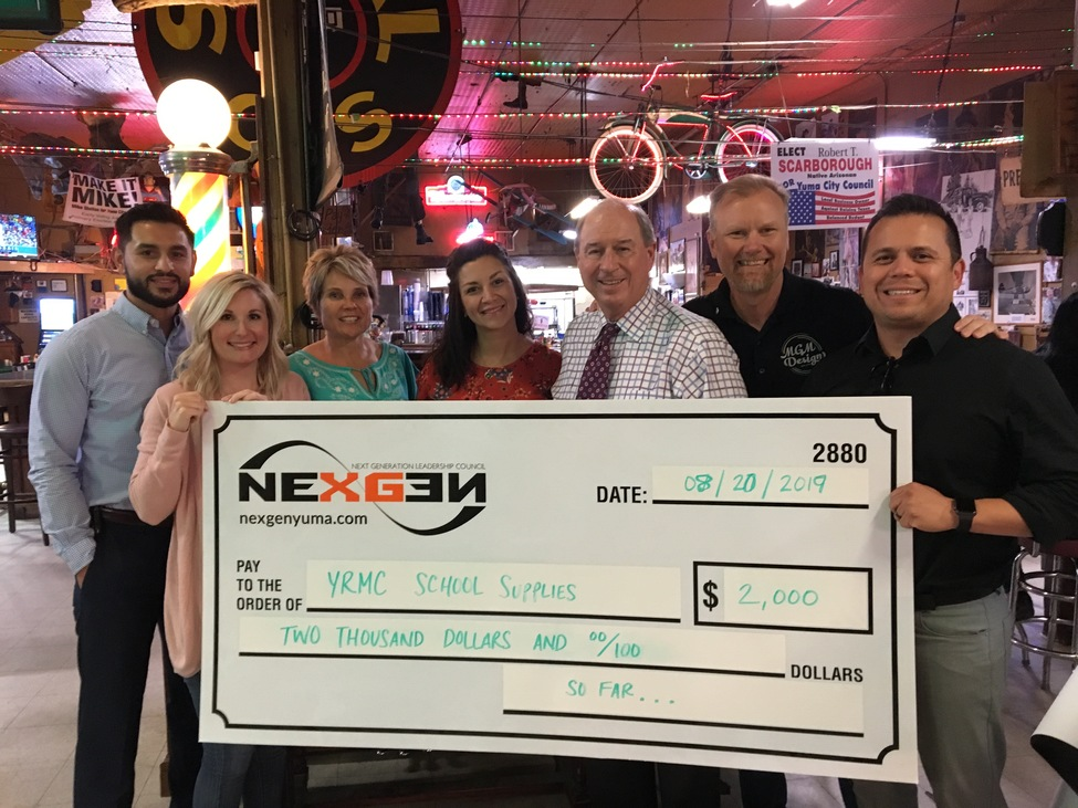 NexGen Donates $2000 to the YRMC Drive For School Supplies
